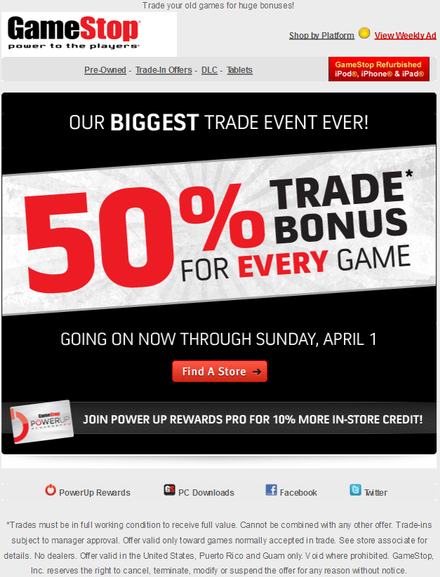 Aug 14, · The gamestop website used to have a trade in value list but it only ever showed newer games. Sadly they never had a list for all games. I can't even get them to tell me a trade in value .